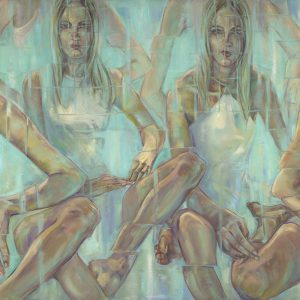 Lott2  Linear Delusions 36×72 Oil On Canvas