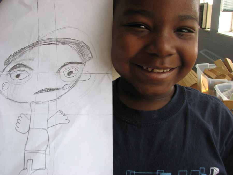 Boy With Drawing 22508590809 O