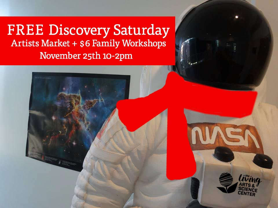FREE Holiday Discovery Saturday, Artist Market + $6 Family Workshops
