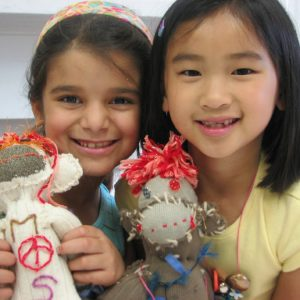 Two Girls With Sock Monkeys