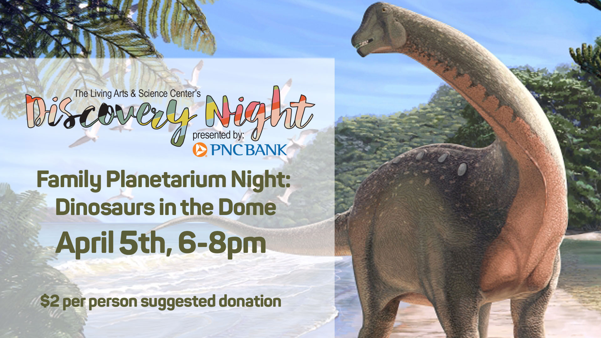 Discovery Night, Family Planetarium Night: Dinosaurs In The Dome