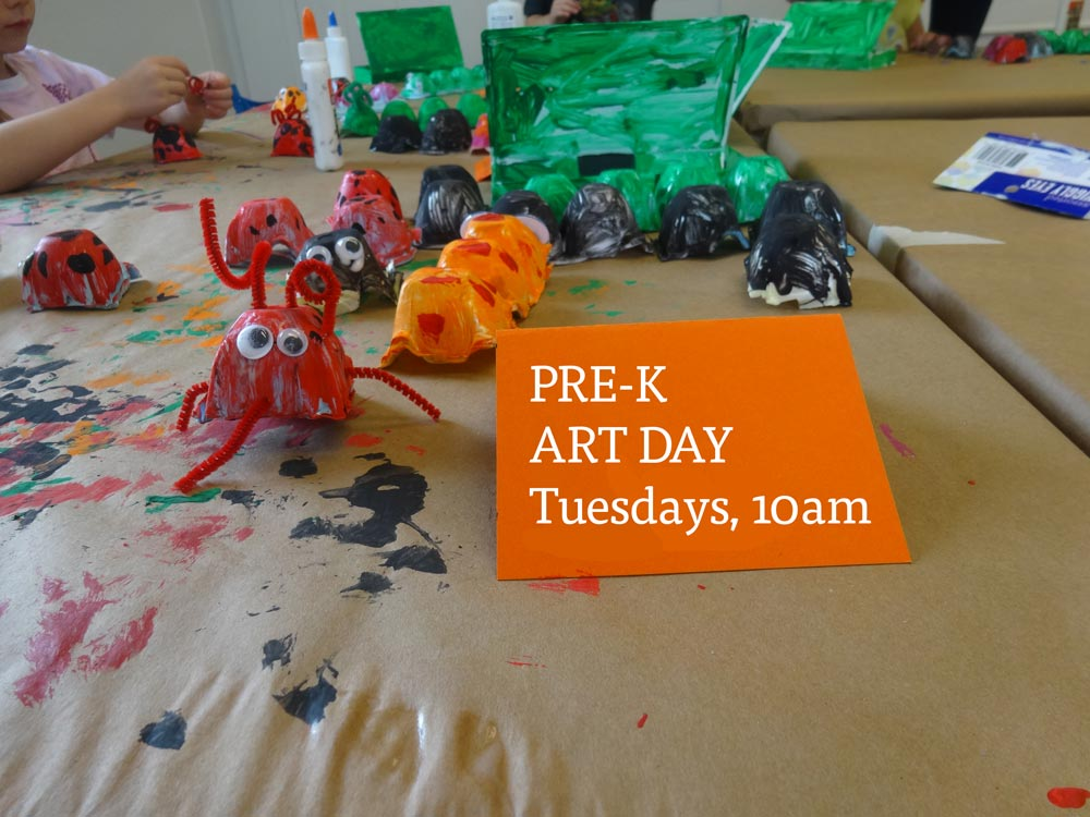 Pre-K Art Day at the LASC