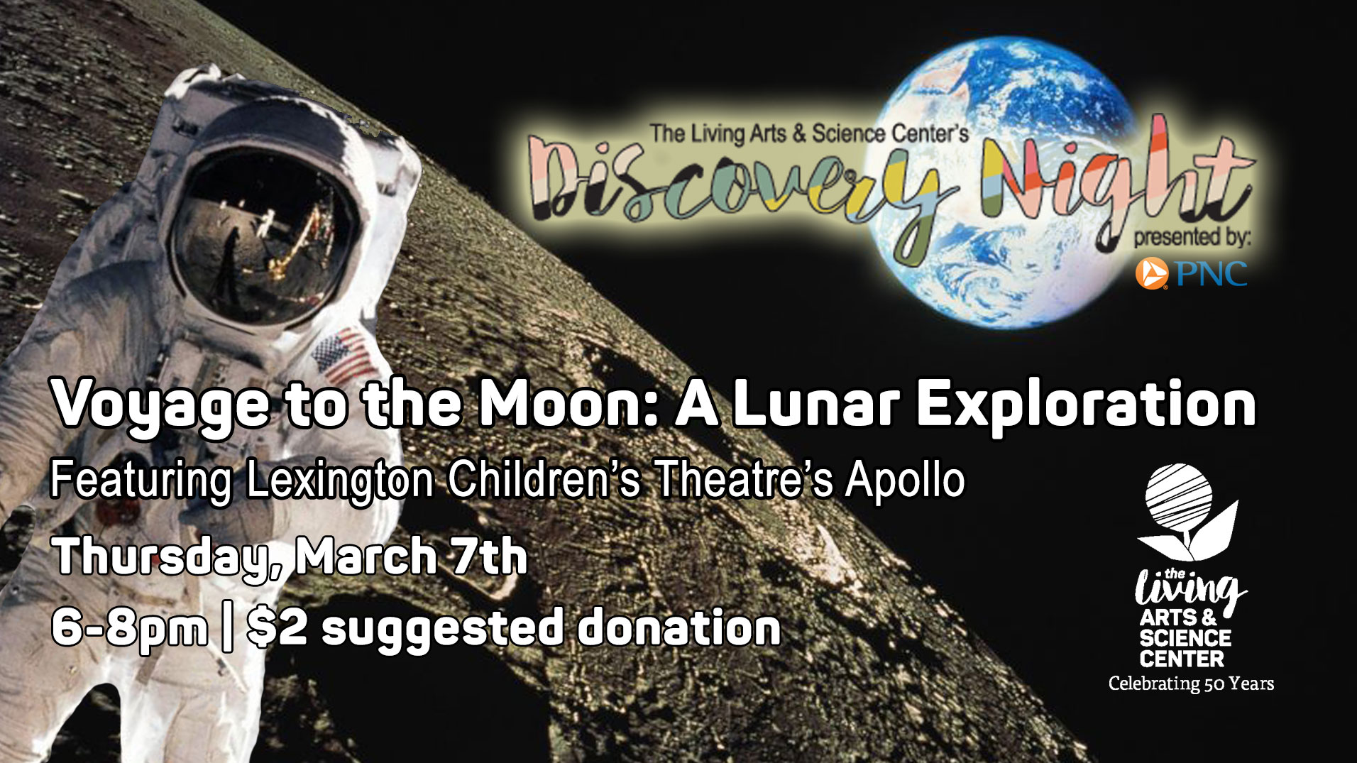 Discovery Night: Voyage To The Moon With Lexington Children's Theatre's Apollo